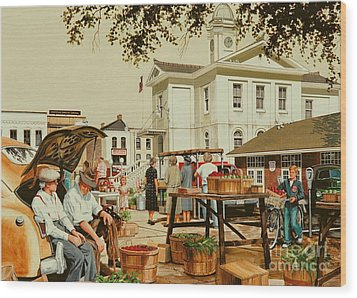 Market Days Wood Print by Michael Swanson