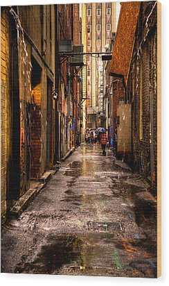 Market Square Alleyway - Knoxville Tennessee Wood Print by David Patterson