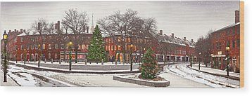 Market Square Christmas - 2013 Wood Print by John Brown