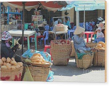 Market Street Vietnam Wood Print by Yury Bashkin