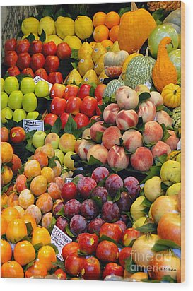 Market Time II Wood Print by Sue Melvin