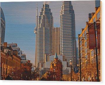 Market Town Toronto Wood Print