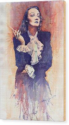 Marlen Dietrich  Wood Print by Yuriy  Shevchuk