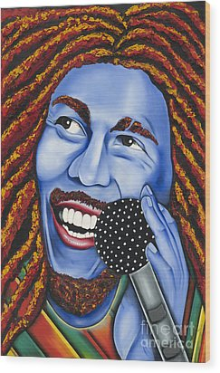Marley Wood Print by Nannette Harris
