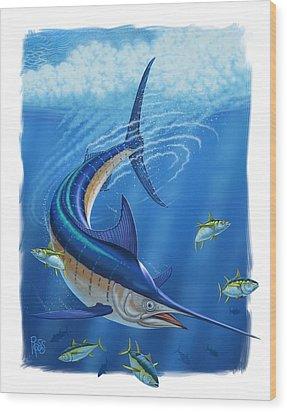 Marlin Wood Print by Scott Ross