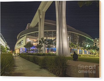 Marlins Park Stadium Miami 3 Wood Print by Rene Triay Photography