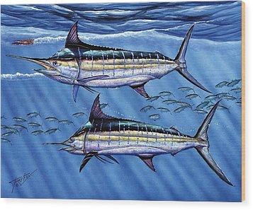 Marlins Twins Wood Print