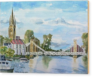 Marlow On Thames 2 Wood Print by Geeta Biswas