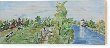 Marlow On Thames 3 Wood Print by Geeta Biswas