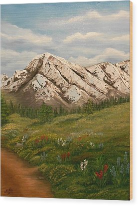 Wood Print featuring the painting Maroon Trail Splendor by Sheri Keith