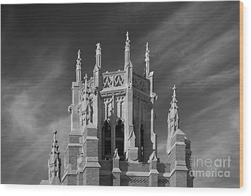 Marquette University Marquette Hall Wood Print by University Icons