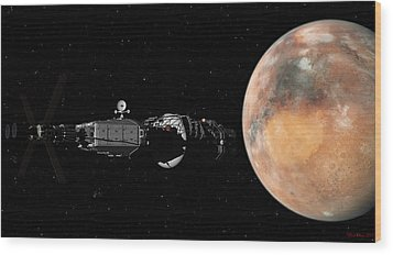 Mars Insertion A Different View Wood Print by David Robinson