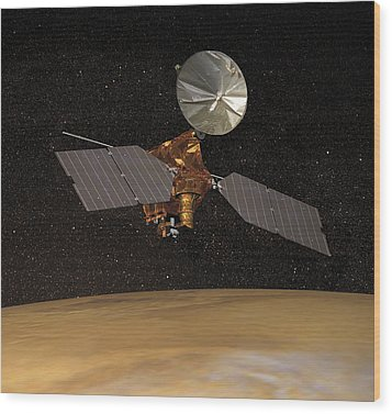 Mars Reconnaissance Orbiter Wood Print by Anonymous