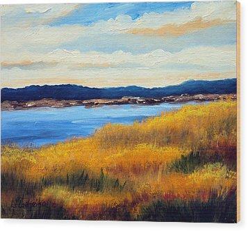 Marsh 3 Wood Print by Laura Tasheiko