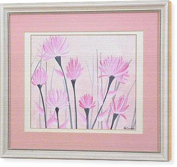 Marsh Flowers Wood Print