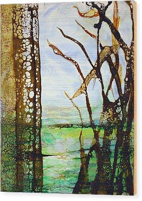 Marsh Grass Study Wood Print