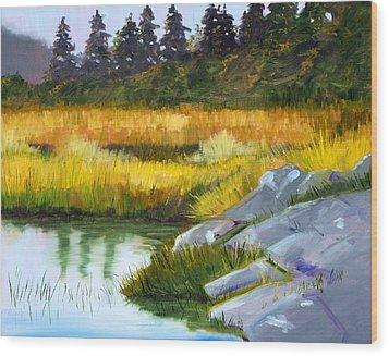 Marsh Wood Print by Nancy Merkle