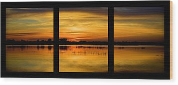 Marsh Rise Tiles 1-3 Wood Print by Bonfire Photography