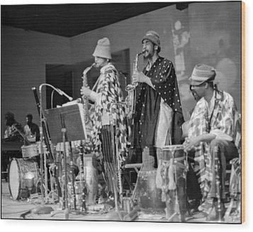 Marshall Allen And Danny Davis Wood Print by Lee  Santa