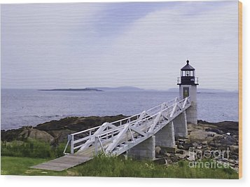 Marshall Point Light 1 Stylized Wood Print