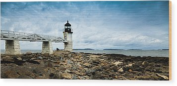 Marshall Point Lighthouse Panoramic Wood Print