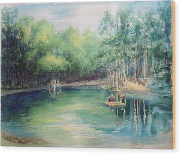 Marshallville Swimming Hole Wood Print