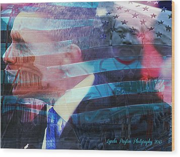 Martin And Obama Wood Print by Lynda Payton