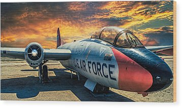 Wood Print featuring the photograph Martin B-57 by Steve Benefiel
