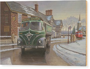 Martin C. Cullimore Tipper. Wood Print by Mike  Jeffries
