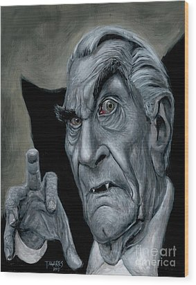 Martin Landau As Bela Wood Print by Mark Tavares