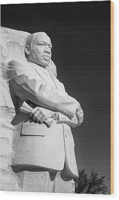 Martin Luther King Jr. Statue Wood Print