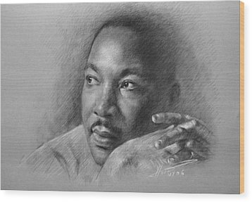 Martin Luther King Jr Wood Print by Ylli Haruni