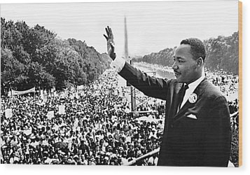 Martin Luther King The Great March On Washington Lincoln Memorial August 28 1963-2014 Wood Print by David Lee Guss