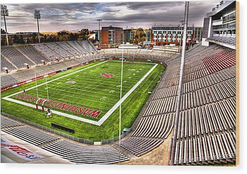 Martin Stadium At Washington State Wood Print