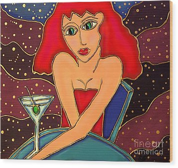 Martini Dreams Wood Print by Cynthia Snyder
