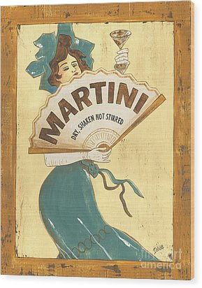 Martini Dry Wood Print by Debbie DeWitt