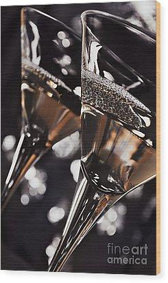 Martini Glasses Wood Print by Jelena Jovanovic