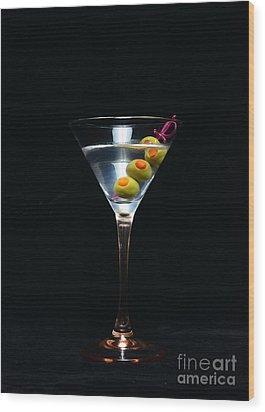 Martini Wood Print by Paul Ward