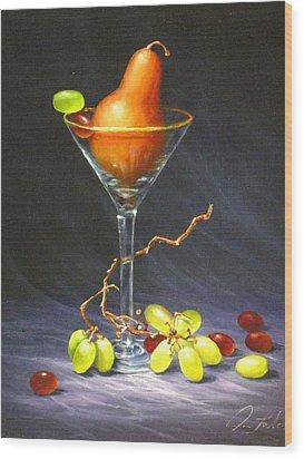 Martini Wood Print by Sean Taber