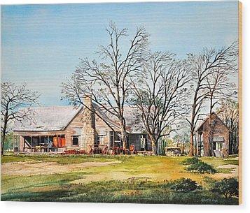 Martin's Homestead Wood Print