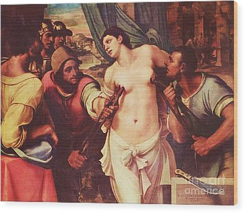 Martyrdom Of St Agatha Wood Print by Pg Reproductions