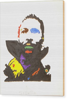 Wood Print featuring the painting Marvin Gaye by Stormm Bradshaw