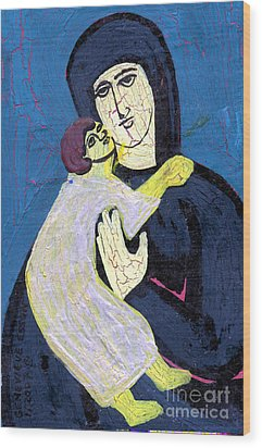 Mary And The Baby Jesus Wood Print by Genevieve Esson