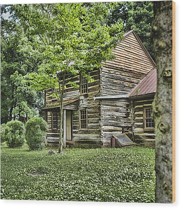 Mary Dells House Wood Print by Heather Applegate
