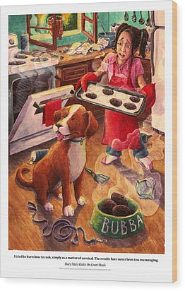 Mary Mary Quite On Great Meals Wood Print by David Condry