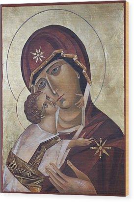 Mary Of Valdamir Wood Print by Mary jane Miller
