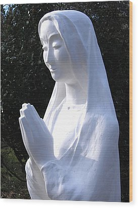 Mary Praying 2009 Wood Print