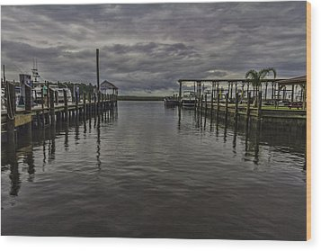 Mary Walker Marina - Stormy Skies Wood Print by Brian Wright