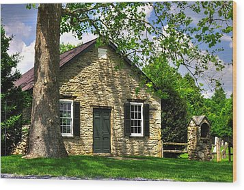 Maryland Country Churches - Fairview Chapel-1a Spring - Established 1847 Near New Market Maryland Wood Print by Michael Mazaika