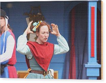 Maryland Renaissance Festival - A Fool Named O - 121217 Wood Print by DC Photographer